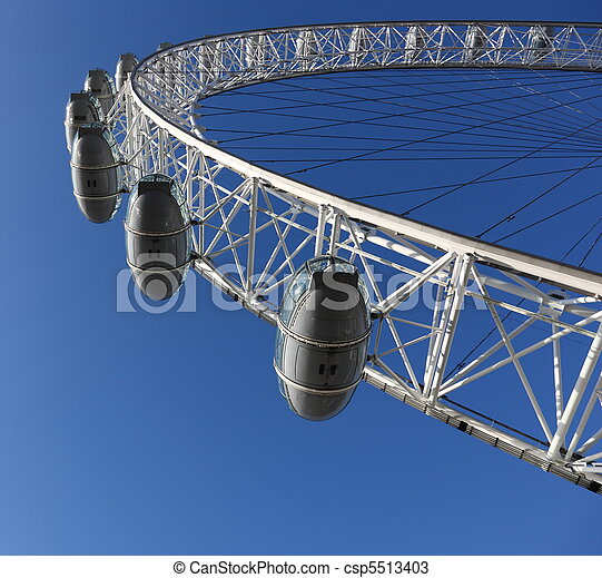 Famous London Eye in London, Great Britain - csp5513403