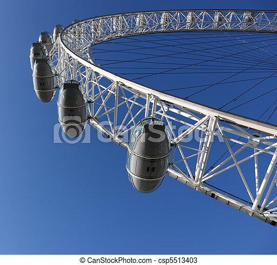 Famous London Eye in London, Great Britain - csp5513403