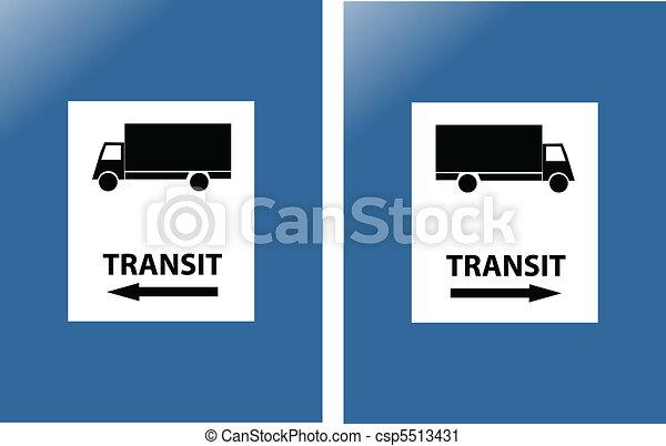 transit blue traffic sign - csp5513431