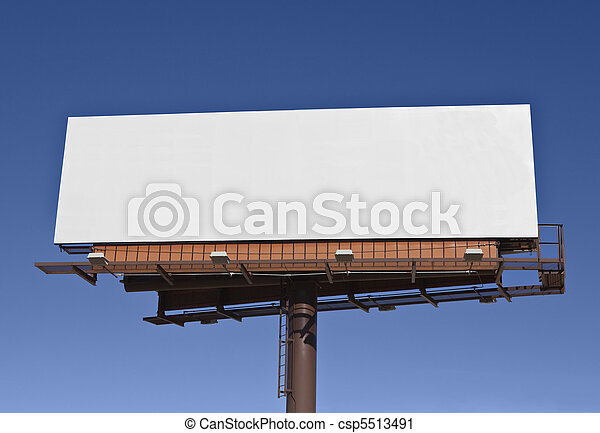 Big Blank Billboard - csp5513491