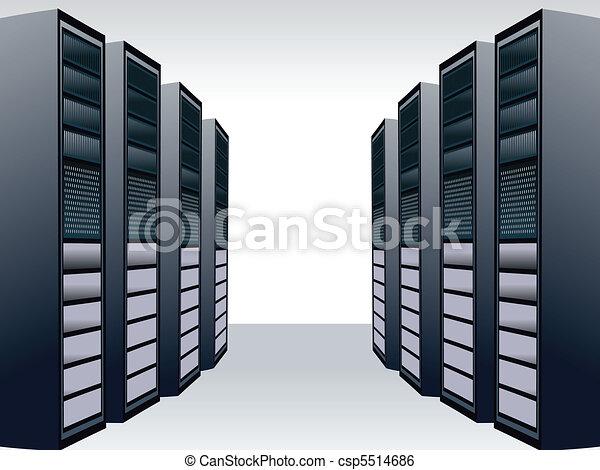 a unique server station  - csp5514686