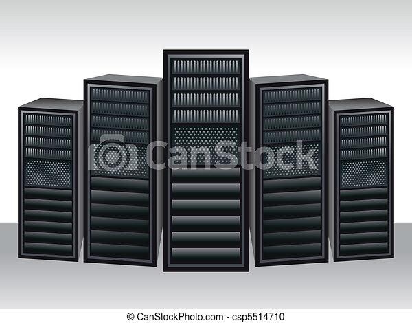 a unique server station  - csp5514710
