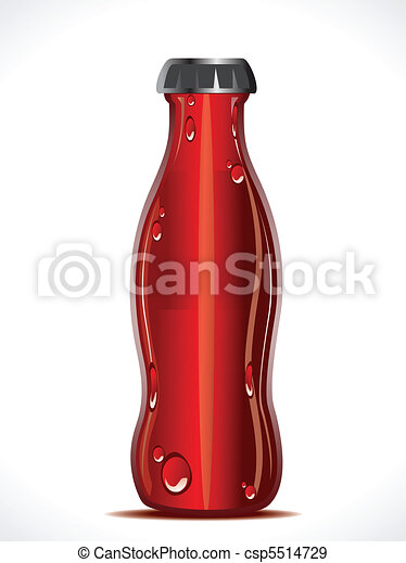 abstract cold drink bottle - csp5514729
