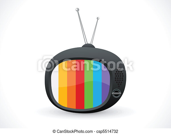 abstract television icon  - csp5514732