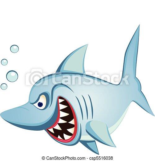 cápa, betű, Karikatúra - csp5516038
