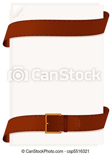 Paper and belt - csp5516321