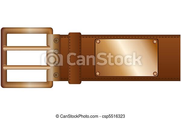 Belt and label - csp5516323