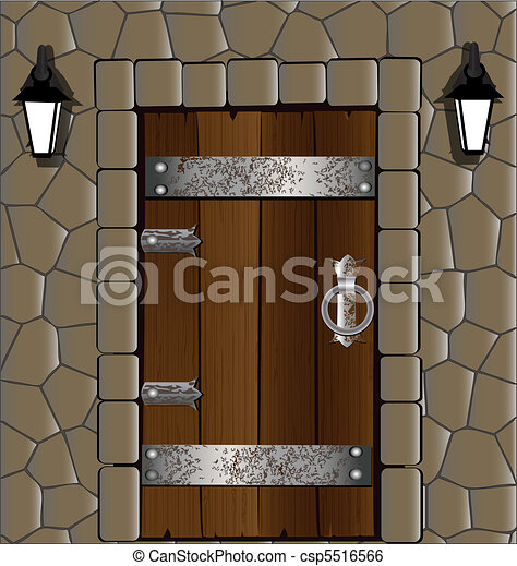 wooden door - csp5516566
