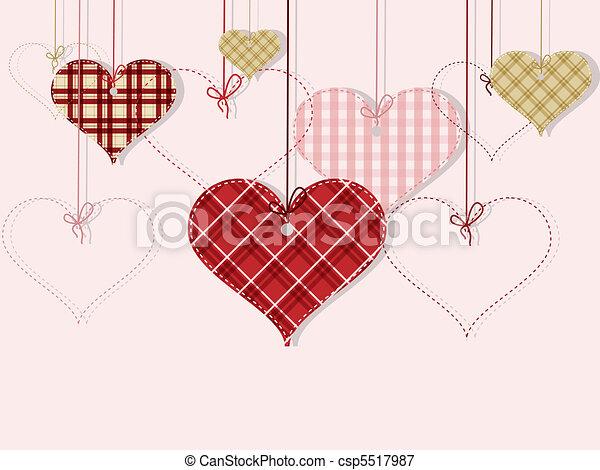 St Valentine day's greeting card - csp5517987