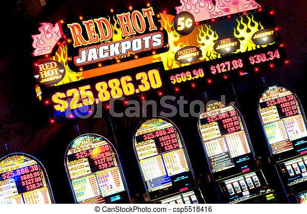 Slot machines, Las Vegas, Nevada - csp5518416