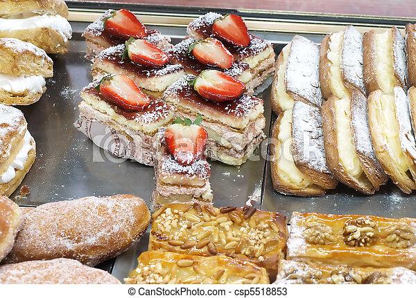Sweet cakes confectionery - csp5518853