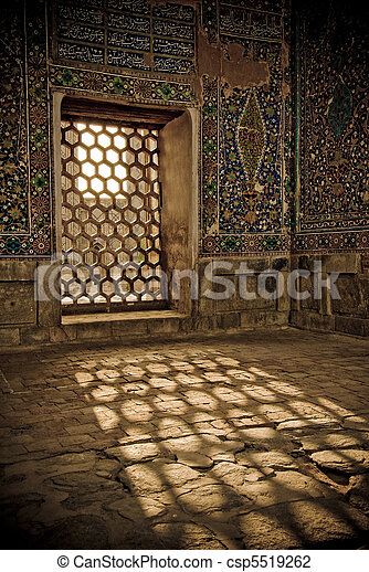 Architectural details of Registan, Samarkand, Uzbekistan - csp5519262