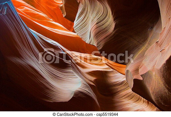 Abstact shapes of Antelope Canyon, Arizona, USA - csp5519344