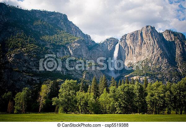Yosemite waterfall, California, USA - csp5519388