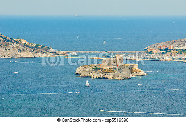 the chateau d'if, marseille, france - csp5519390