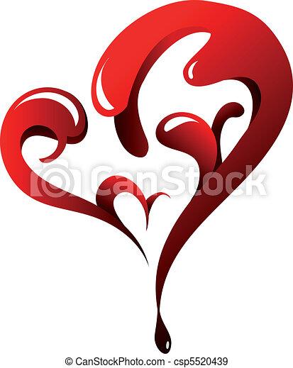 St. Valentine`s Day heart-shape - csp5520439