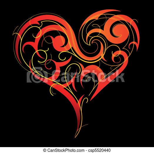 St. Valentine`s Day heart-shape - csp5520440