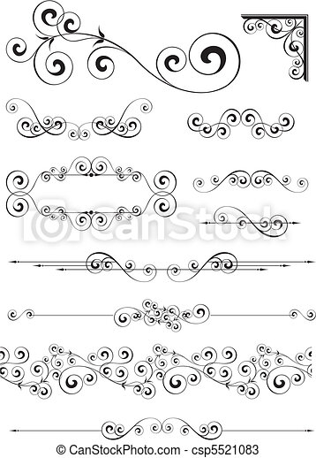 page decoration ornaments - csp5521083