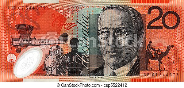 Australian Twenty Dollar Note - csp5522412