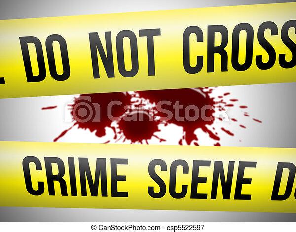 Crime scene 2 - csp5522597