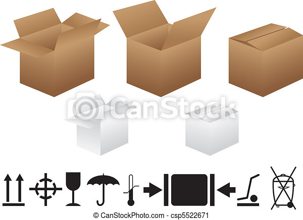 Boxes And Packaging Signs - csp5522671