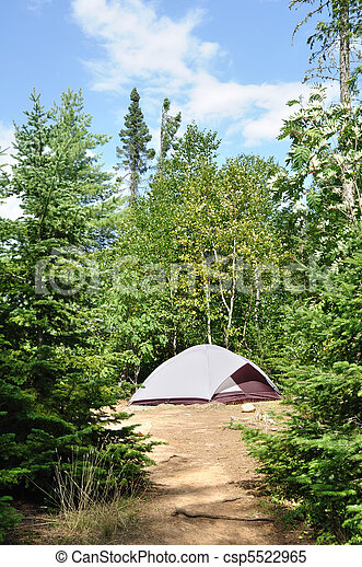 Tent at Campsite in the Wilderness - csp5522965