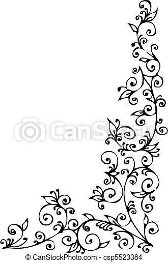 Refined Floral vignette CCCXLII - csp5523384