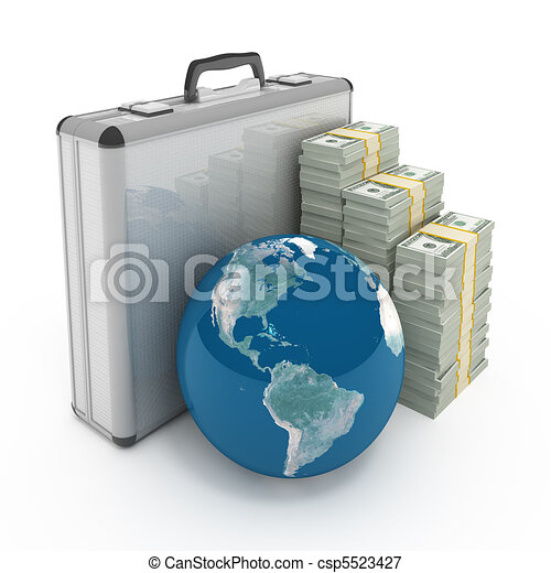Global investment concept - csp5523427