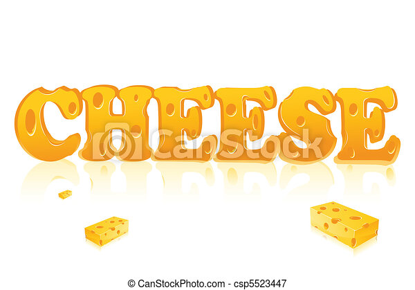 Word Cheese - csp5523447