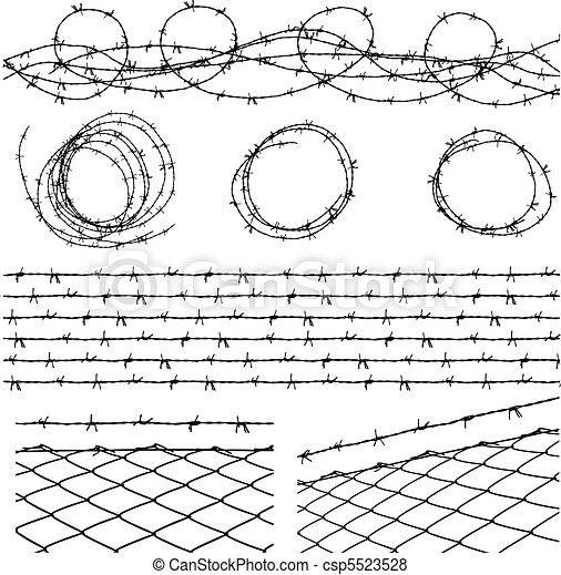Barbed wire elements - csp5523528