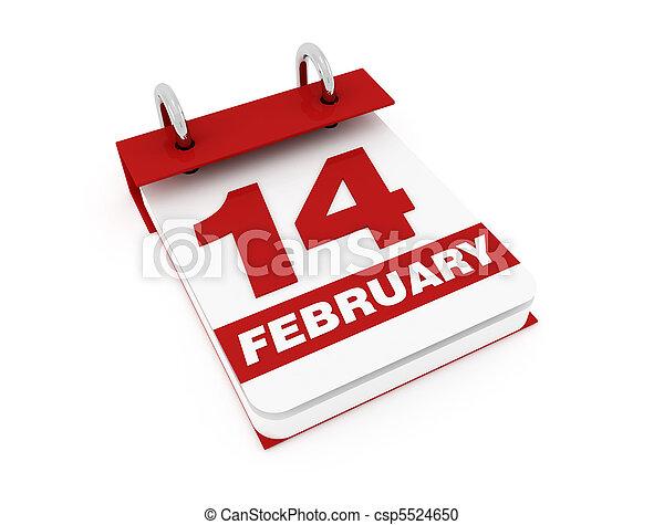 valentine's day calendar - csp5524650