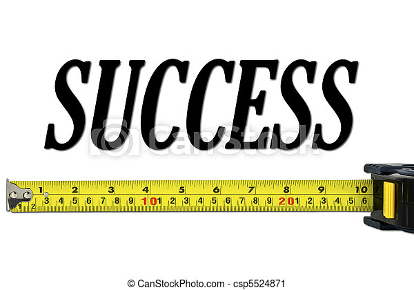 Success Concept with Tape Measure - csp5524871
