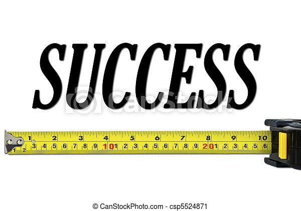 Success Concept with Tape Measure - csp5524871