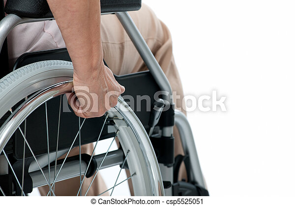 hand on wheelchair - csp5525051