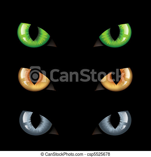 Cat Eyes n Darkness - csp5525678