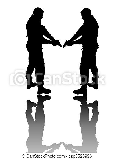 soldier - silhouette - csp5525936