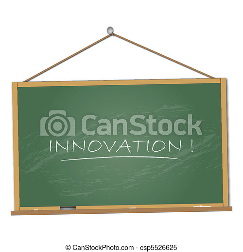 Innovation Chalkboard Illustration - csp5526625