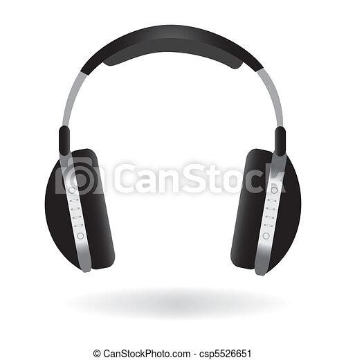 Headphones Illustration - csp5526651