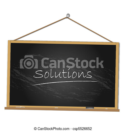 Solutions Chalkboard Illustration - csp5526652