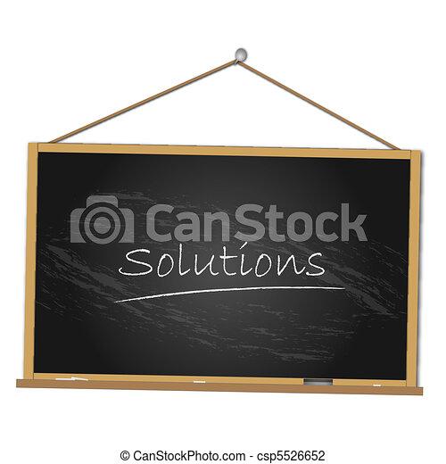 Solutions Chalkboard Illustration - csp5526652
