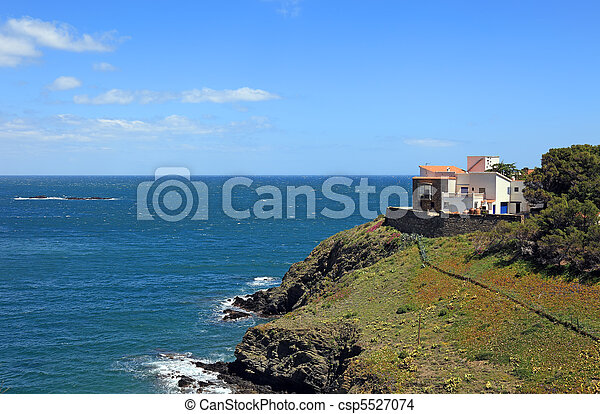 Mediterranean villa in french village Cerbera - csp5527074