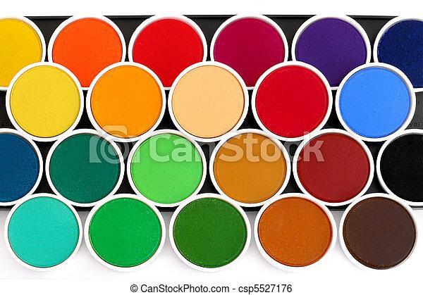 Watercolor palette - csp5527176