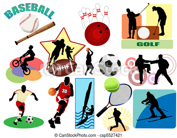 Sports icons and symbol - csp5527421
