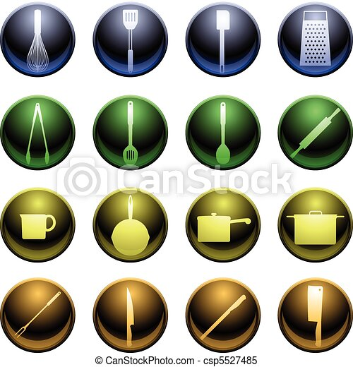 Shiny cooking icons - csp5527485