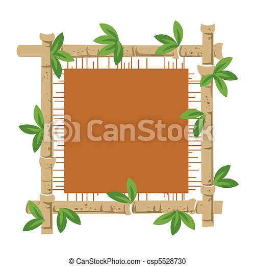 Bamboo and material - csp5528730