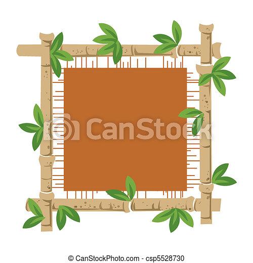 Bamboo and material - csp5528730
