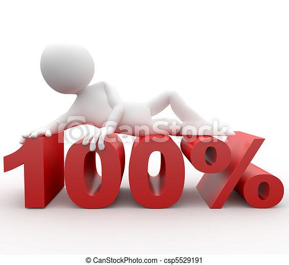 3d human lying in 100 percent - csp5529191