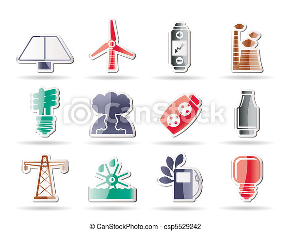 Power, energy and electricity icons - csp5529242