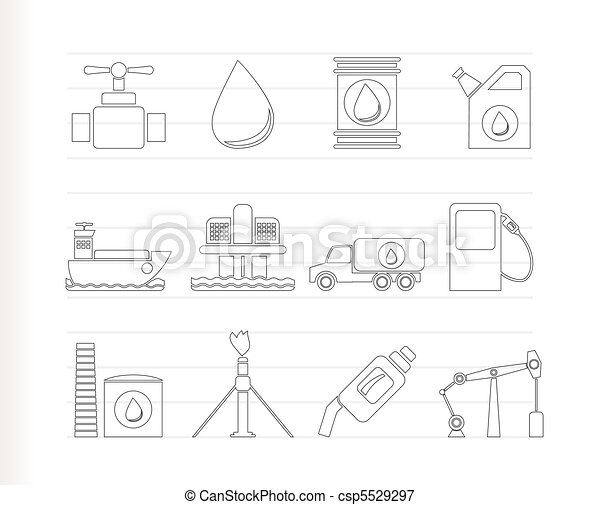 oil and petrol industry objects - csp5529297