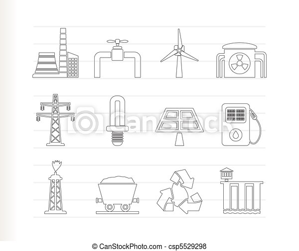 Power and electricity industry icon - csp5529298